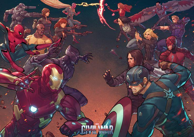 Captain America Civil War by Bryan Valenza