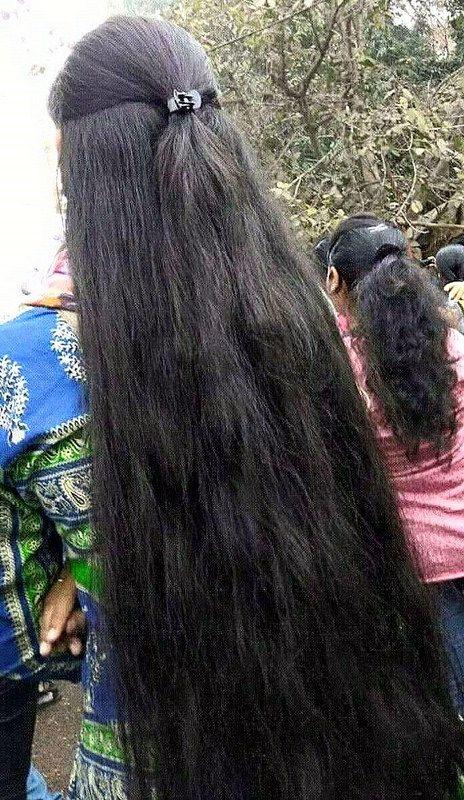 Thick Silky Long Hair In 2020 Long Indian Hair Braids