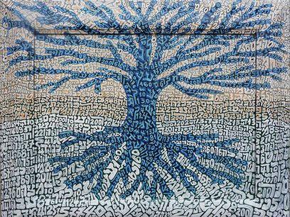 Tobia Ravà, Albero celeste, cm 43 x 53 - CoSA   Contemporary Sacred Art