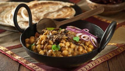 Chana masala - Garbanzos guisados con especias de la India