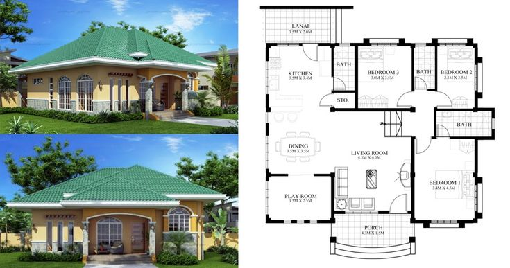 Marcela Elevated Bungalow House Plan Php 2016026 1s Pin By ...
