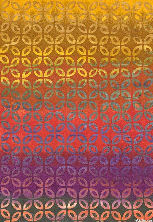 Ombre Petals Batik - Spice