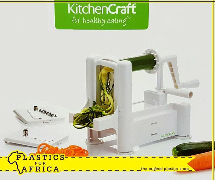 The #KitchenCraft Spiralizer is an essential in every kitchen. This multifaceted spiral slicer will slice the hassle of chopping vegetables for salads and stir fry. Available from #PlasticsforAfrica.