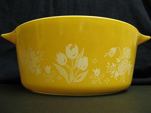 Garden Pyrex bowl. I got it for $1.99 at a thrift store.