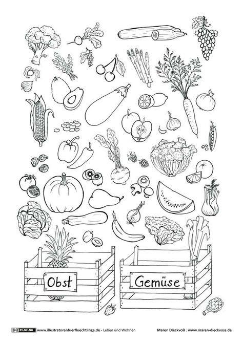 Download als PDF: Leben und Wohnen – Obst Gemüse Ratespiel – Dieckvoß