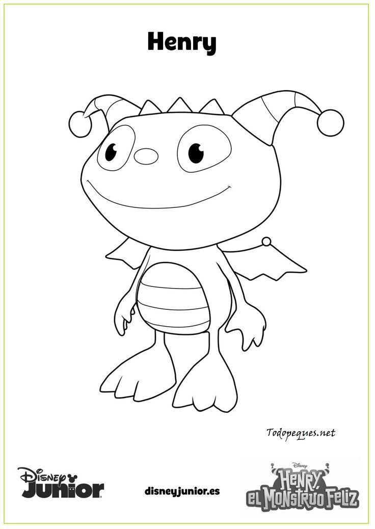 Dibujos Para Colorear Disney: Henry El Monstruo Feliz Henry Imprime Y Colorea Page 001