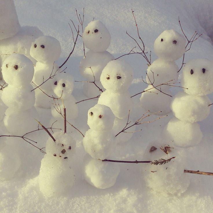 Snømenn.