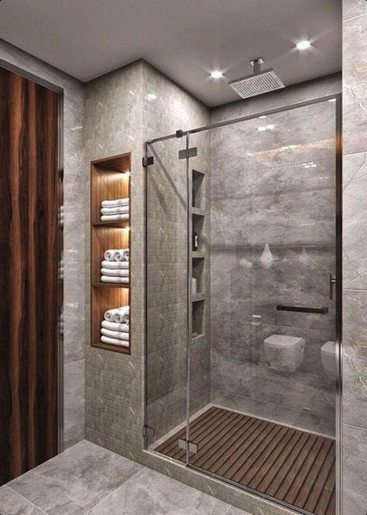 12 Modern Rustic Bathroom Decor Ideas In 2020 Small Bathroom Makeover Bathroom Design Small Small Bathroom Remodel