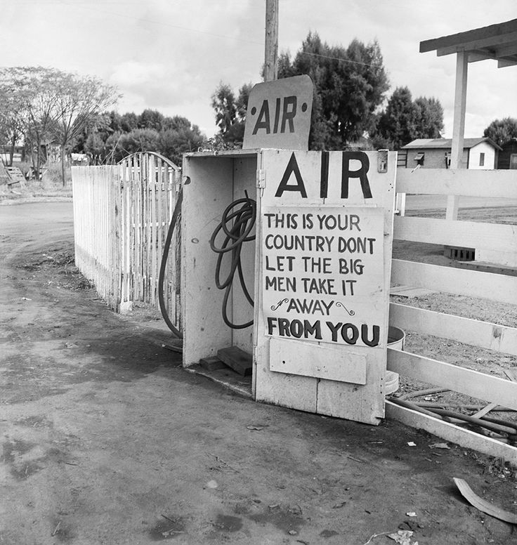 Gas station. Kern County, California (photo by Dorothea Lange)