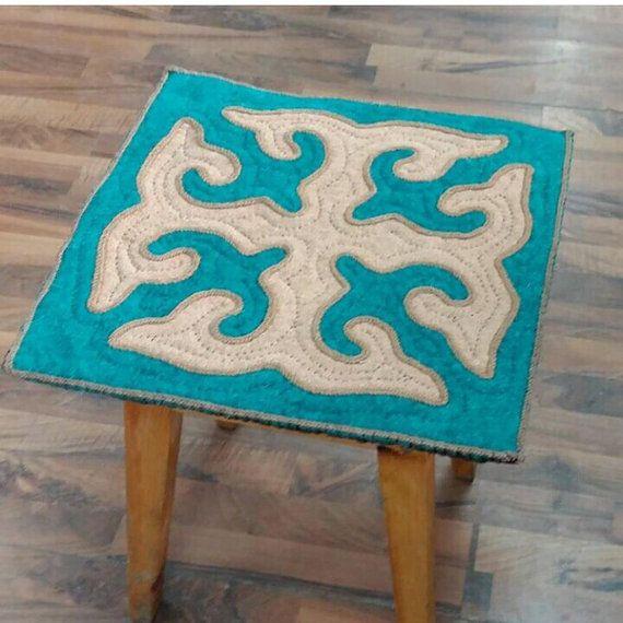 Felt wool pads shyrdak rug central asian rug by CentralAsianBazaar