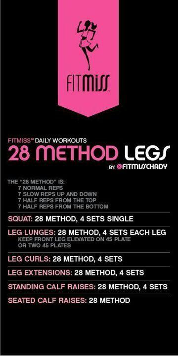 28 Method Legs. Killer!!!