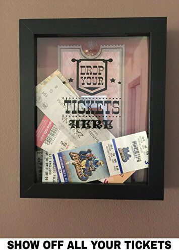 SAVE MONEY AND HASSLE - Show off your tickets in the Ticket Storage Shadow Box so you can proudly display them where you can easily enjoy seeing the tickets. Re