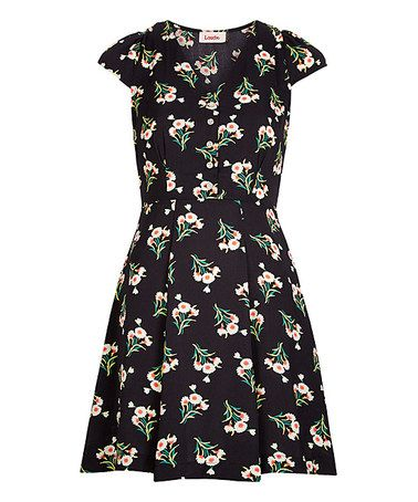 Take a look at this Black Floral Cathleen Dress on zulily today!
