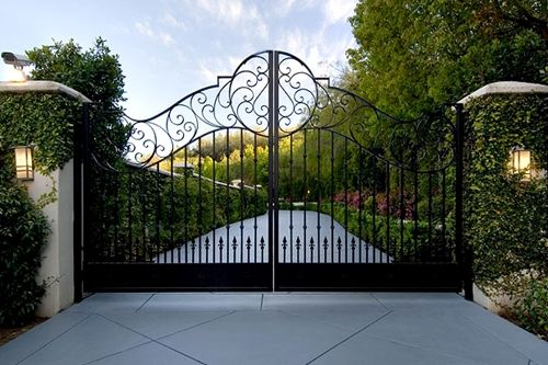 Future mansion gate.. only with my initials on the top part.
