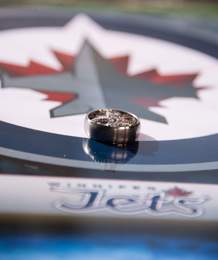 Winnipeg Jets wedding Winnipeg Jets wedding rings Unique ring shot