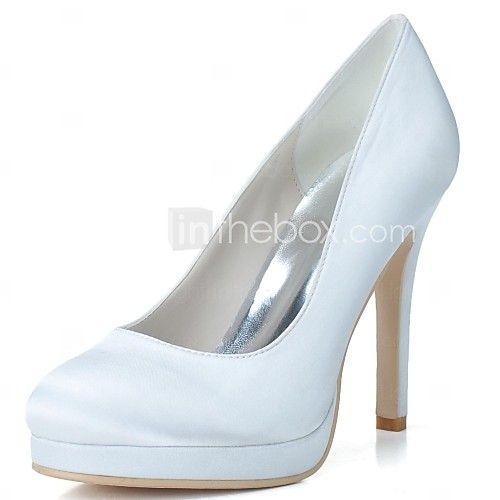 sapatos calcanhares das mulheres rodada calcanhar toe stiletto bombas de sapatos de casamento mais cores disponíveis - BRL R$ 152.36