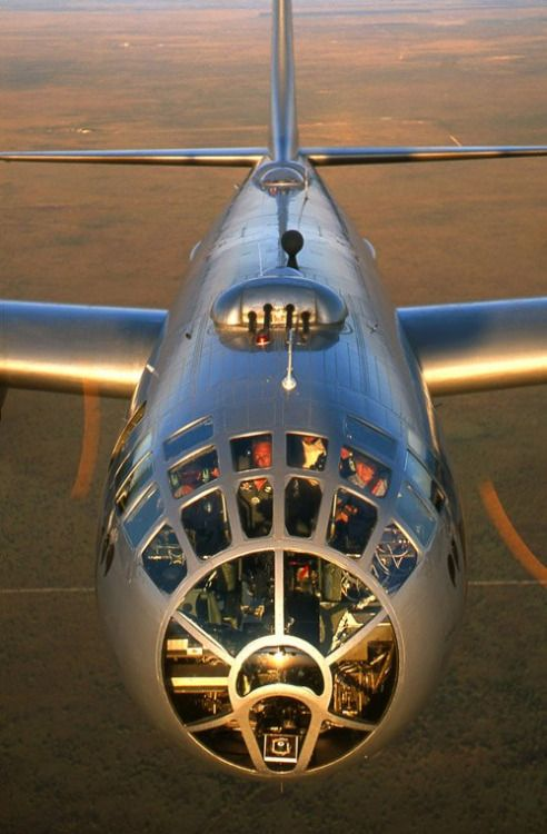 B-29 Supefortress bomber of the type that dropped the atomic bombs on Japan.