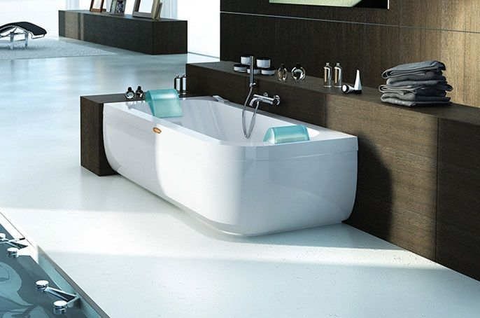 Double Ended Whirlpool Bath For 2 People Aquasoul Double