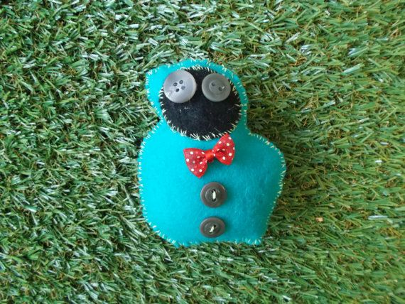 Turquoise Critter by LoveandSqualorCrafts on Etsy, $15.00