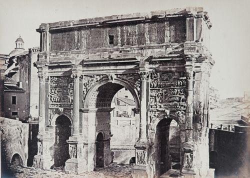 Arch of Settimio Severo. Rome 1860 (ca)