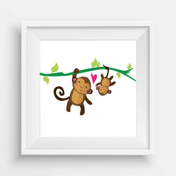 Baby Monkey and Papa by agirladrift on Etsy