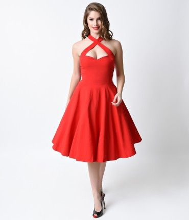 Penny was born a Pin-up, dames. An all red flare fresh from Collectif in a striking 1950s reminiscent vintage dress desi...Price - $78.00-3bCZKIr7