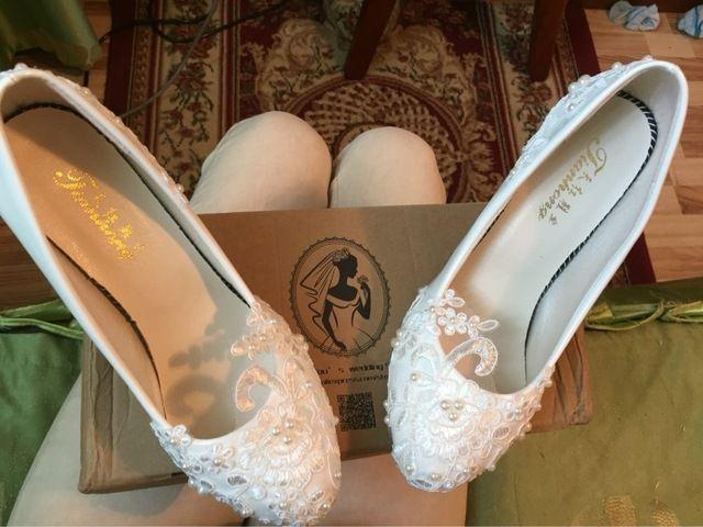 Mulheres bombas de casamento sapatos tamanho grande 41-42 Artesanal de rendas branco sapatos de noiva sapatos de dama de honra do banquete vestido 8.5 cm calcanhar Loja Online | aliexpress móvel