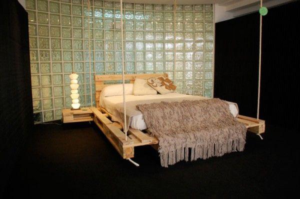Cama muebles complementos hechos con - Camas con palets ...