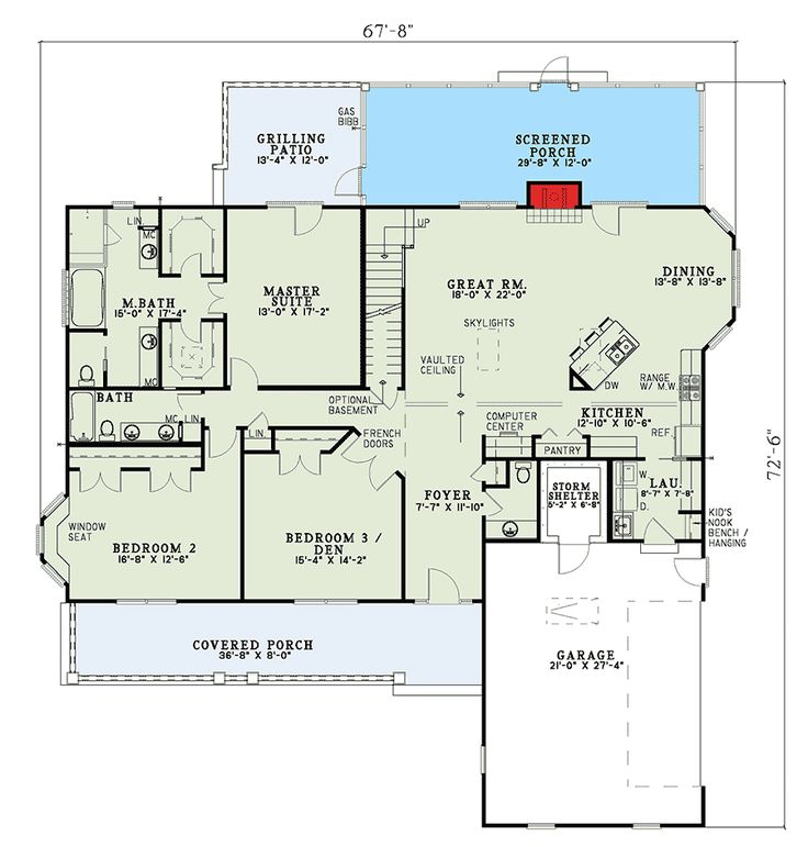 249 best ranch walkout basement images on pinterest for Country ranch house plans with basement