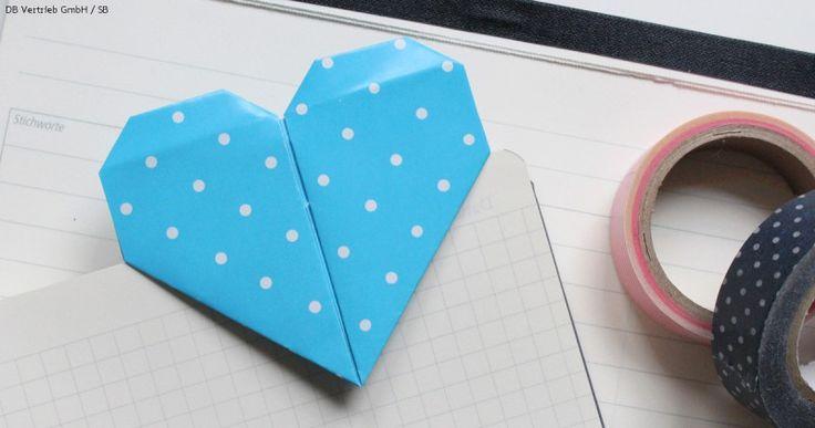 Lesezeichen Origami selbst basteln
