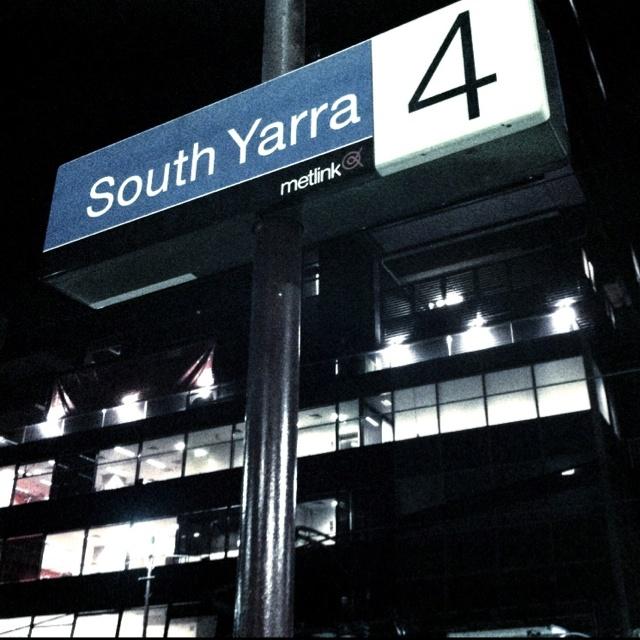 Platform 4, South Yarra Station Noir