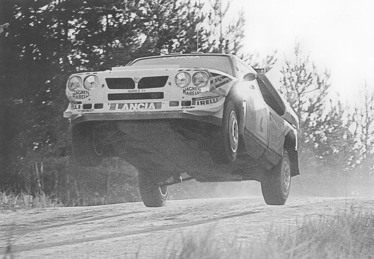 """""""Flatout."""" - extended version of Markku Alén´s tactics in 1000 Lakes Rally with Lancia Delta S4."""