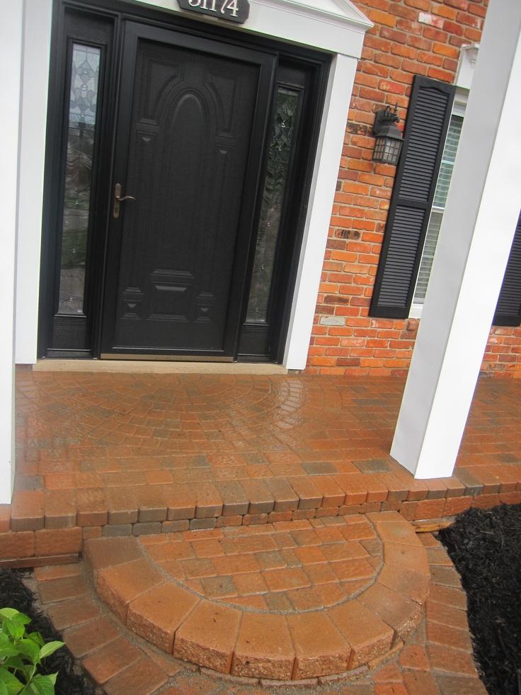 how to set brick pavers