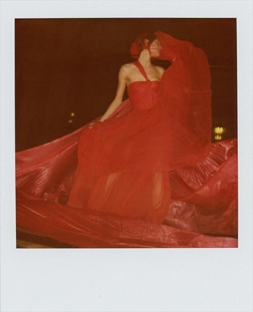 Floor length evening gown by Dior; Fabric stylist's own Photography Lina Scheynius; Styling Robbie Spencer