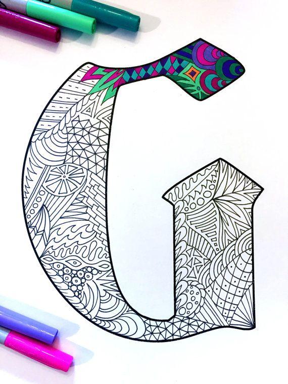 Hey, diesen tollen Etsy-Artikel fand ich bei https://www.etsy.com/de/listing/476194982/letter-g-zentangle-inspired-by-the-font