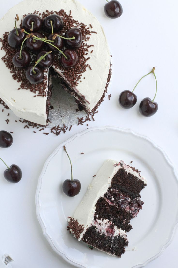 The Best Black Forest Cake Recipe you'll ever try. Moist & chocolatey with oozy boozy kirsch soaked cherry compote, and fresh sweetened whipped cream.