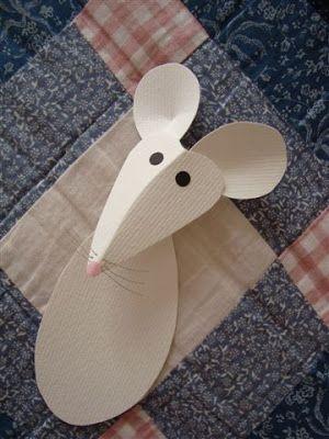 Ideias Giras: ratinho de papel