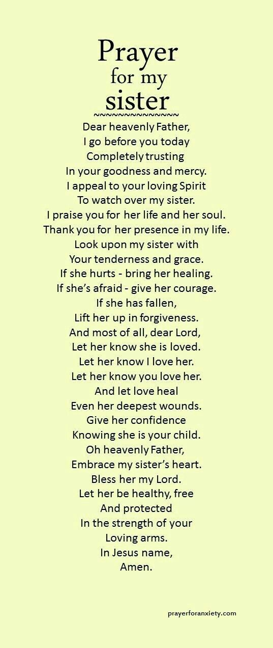 Prayer for sisters