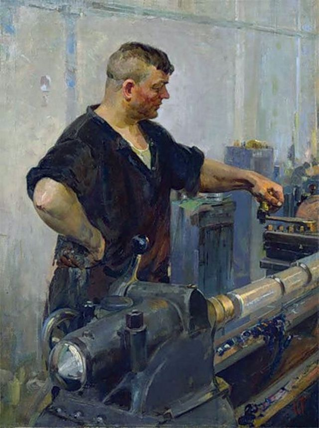 "Тартаковский И.И. "" У станка"" 1956"