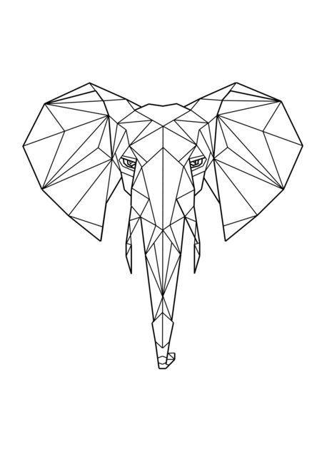 Ms de 25 ideas increbles sobre Animales geometricos en Pinterest