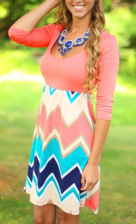 More Than A Memory Chevron Dress - THIS ITEM IS FINAL SALE
