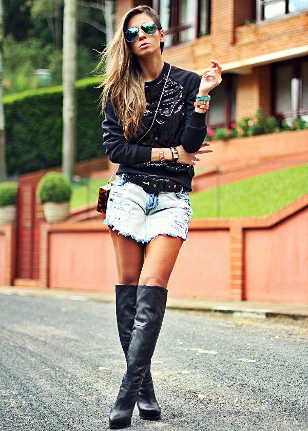 Boa ideia pra usar o short saia #eutenho