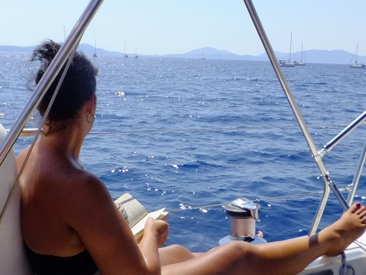 What better than read a book in the middle of the Ionian #sea? #YachtCruise #DelfinoBlu Photo on @nostressyachting
