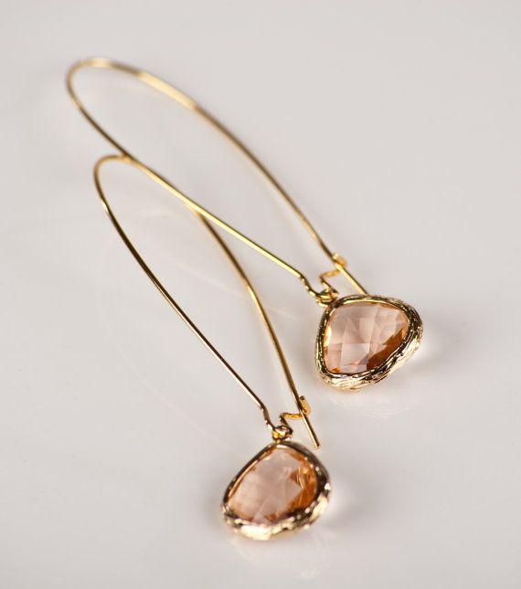 Kidney Crystal Drop Earring