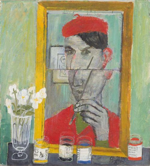 Olle Olsson Hagalund - Self-portrait in a mirror (1952)
