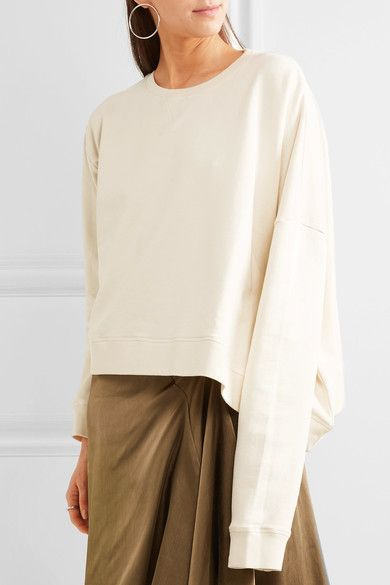 MM6 Maison Margiela - Oversized Cotton-jersey Sweatshirt - Off-white - x small