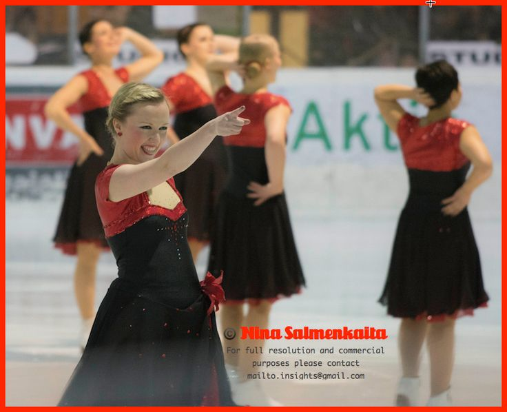 Team Antique (adults) FIN at a competition Feb 2014