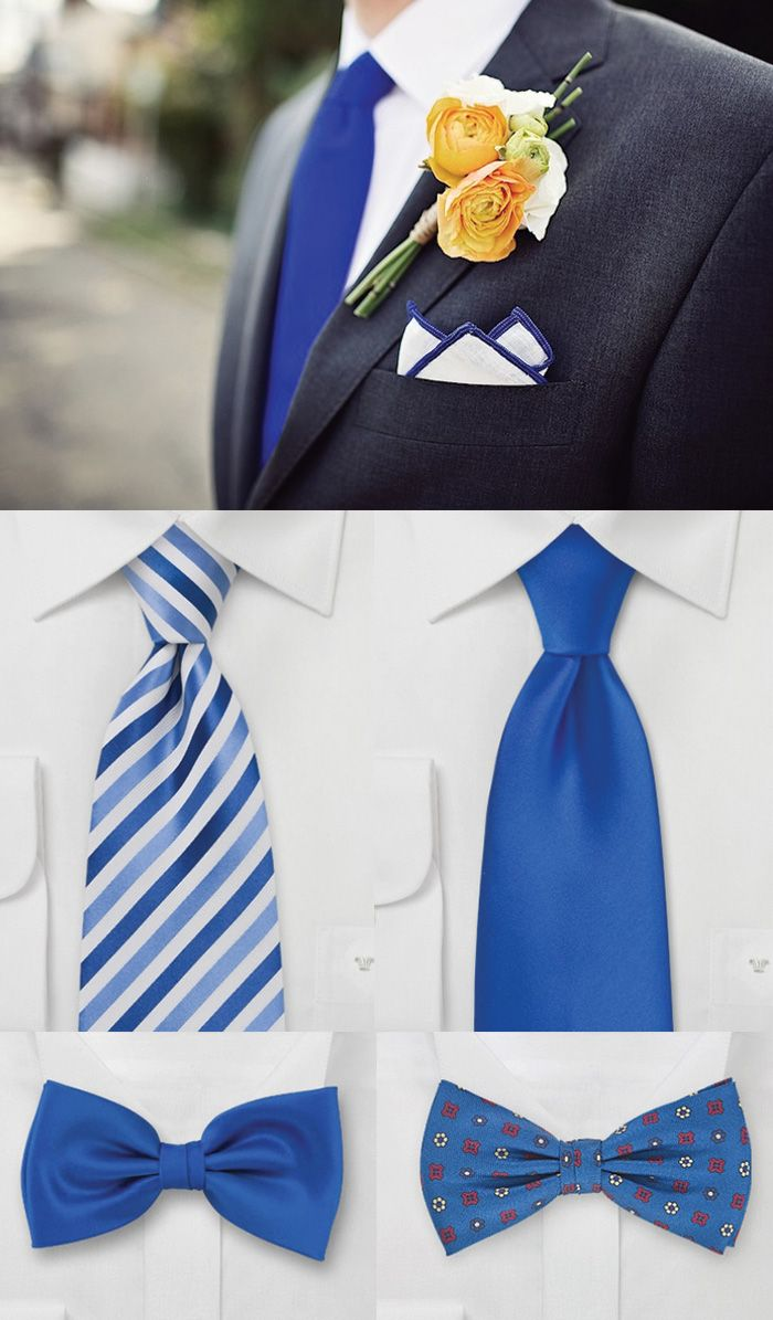 Horizon Blue Accessories for the groom and groomsmen.