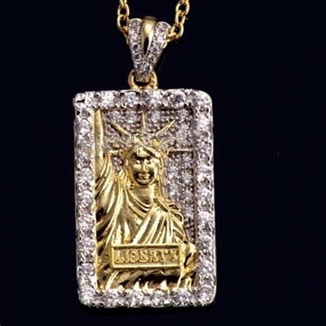Bullion Heaven product, liberty daimond pendant check out our website now www.bullionheaven.bigcartel.com #miamicubanlink #cubanlink #goldlink #goldchain #goldpiece #goldnugget #bullionheaven #18k #14k #jesuspiece #angelpiece #pharaohpendant #boss #stacks #swaggod #highsnobiety #hypebeast #rvspgallery  #amhush #dopepiece #blvck #goldheaven #hippop #golggod #ladies #lady #liberty