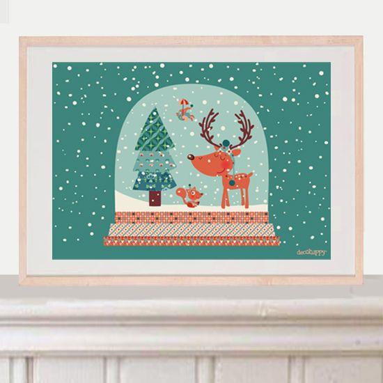 Lámina infantil Bola Mágica de Navidad http://www.decohappy.com/producto/bola-magica-de-navidad-lamina-decorativa/